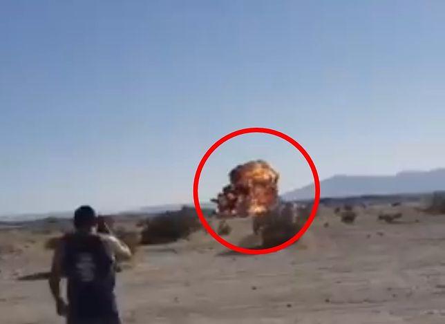 F-35 uderzył o ziemię. 100 mln dolarów w piach [wideo]