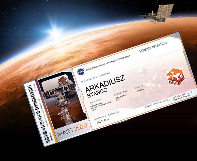 Chcecie polecieć na Marsa? Może być ciężko, łatwiej wysłać swoje imię