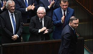 Prezydent Andrzej Duda podczas inaugracyjnego posiedzenia Sejmu tej kadencji