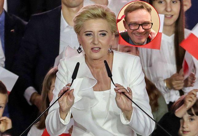 Agata Kornhauser-Duda podczas wieczoru wyborczego