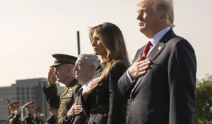 Od prawej: Donald Trump, Melanie Trump, Jim Mattis, Joe Dunford