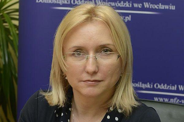 Joanna Mierzwińska z dolnośląskiego NFZ