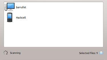 BlueDevil 1.1, trzy różne sposoby na wysłanie pliku