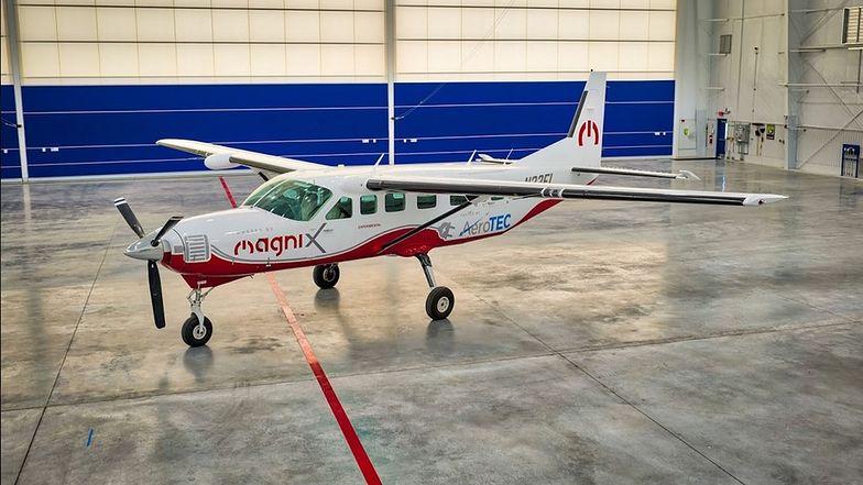 Samolot eCaravan, który wykona w czwartek pierwszy lot próbny.