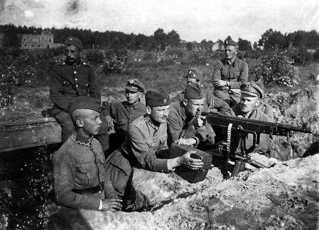 Stanowisko karabinu maszynowego we wsi Janki pod Miłosną, sierpień 1920 r.