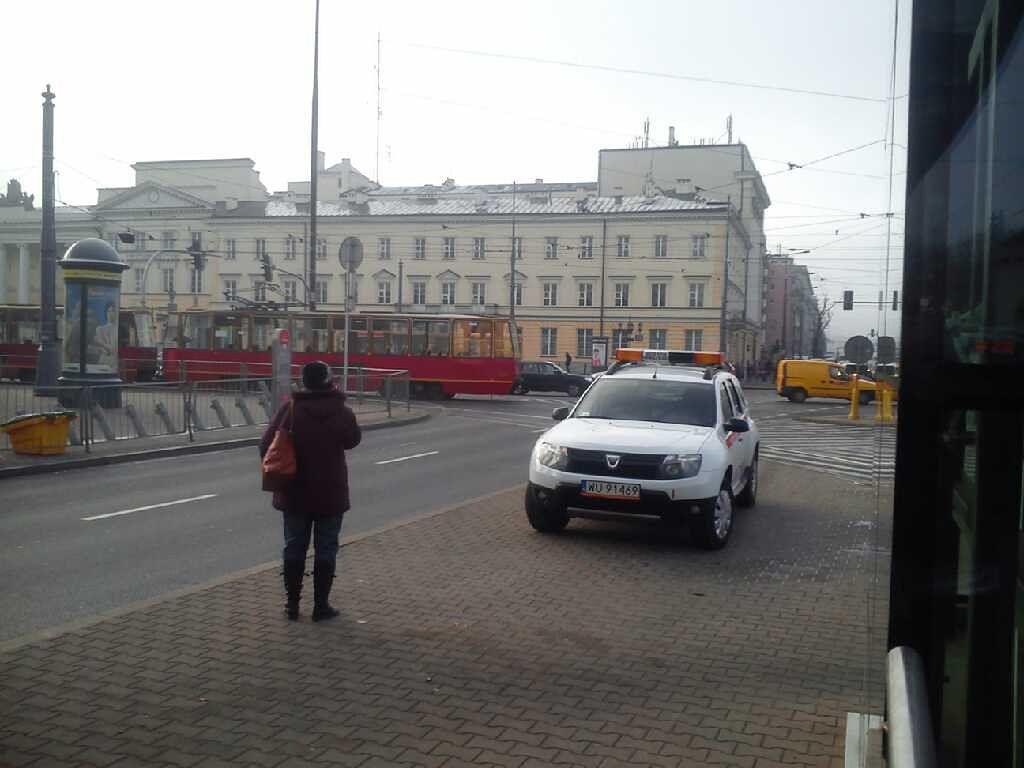 Paraliż tramwajów przy pl. Bankowym