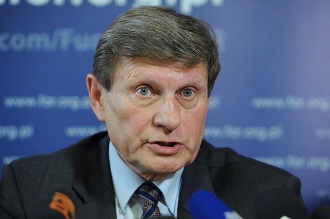 Leszek Balcerowicz podczas konferencji