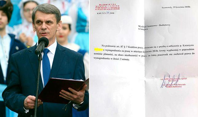 Burmistrz Miasta i Gminy Szamotuły Włodzimierz Kaczmarek