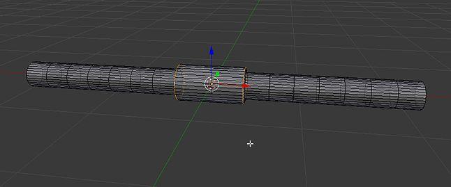 Rozsunięcie poprzez skalowanie w osi lufy