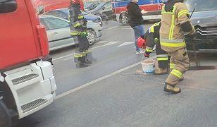 Wypadek na rogu ulicy Kopińskiej z Grójecką