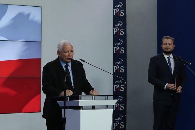 Na zdjęciu: Jarosław Kaczyński oraz Michał Moskal