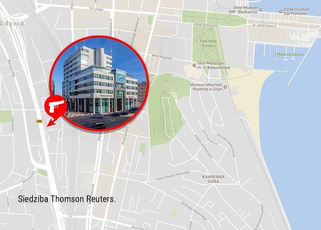 Siedziba Reutersa w Gdyni - miejsce ataku