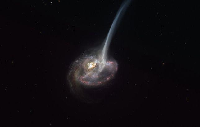 Wizualizacja kolizji galaktyk, która doprowadziła do powstania ID2299