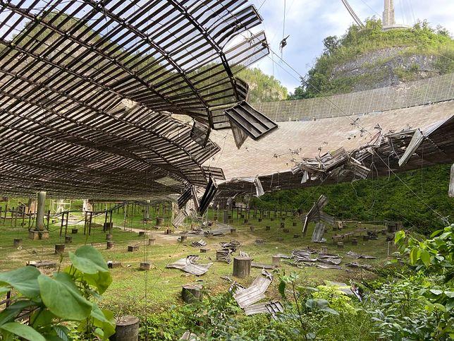 Obserwatorium Arecibo pokazało skalę zniszczeń