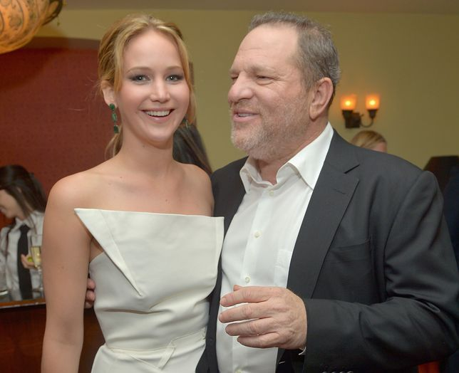 Jennifer Lawrence i Harvey Weinstein w 2013 r.