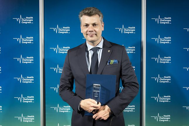 Śląskie. Prezydent Bytomia Mariusz Wołosz odebrał nagrodę specjalną w czwartej edycji konkursu Zdrowy Samorząd.