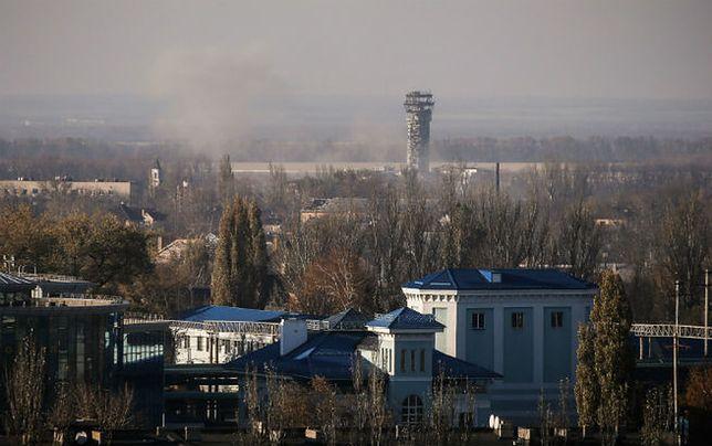 Siły rządowe Ukrainy: kontrolujemy sytuację na lotnisku w Doniecku