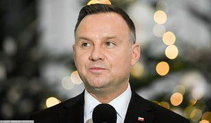 Andrzej Duda wygłosił przemówienie na koniec roku