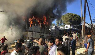 Grecja. Zamieszki na wyspie Lesbos