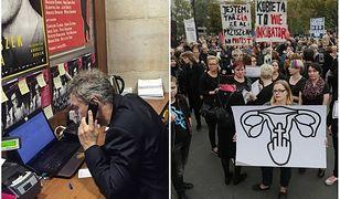 Czarny Protest w Warszawie. Michał Żebrowski zastąpił pracownice swojego teatru