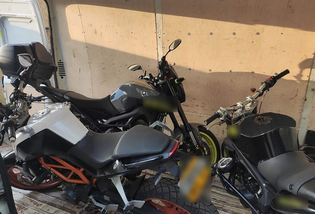 Policja rozbiła gang złodziei motocykli.