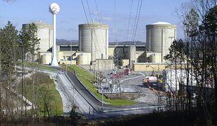 Ludzki łańcuch przed francuską elektrownią atomową