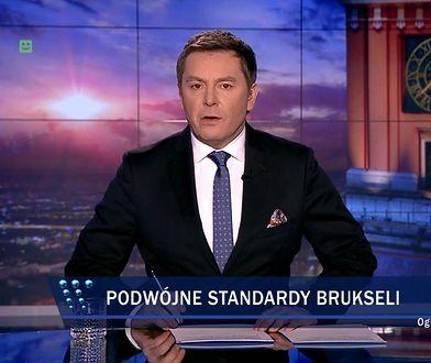 """W """"Wiadomościach"""" TVP burzę po reportażu o neonazistach połączono z materiałem o """"podwójnych standardach Brukseli""""."""