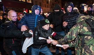 Szarpanina podczas marszu narodowców we Wrocławiu