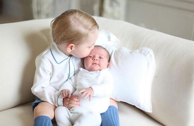 Wspólne zdjęcie księcia Jerzego z księżniczką Charlotte