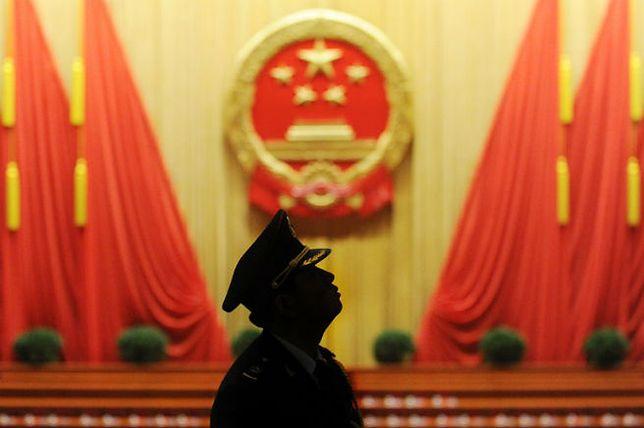 Wnętrze Wielkiej Hali Ludowej w Pekinie