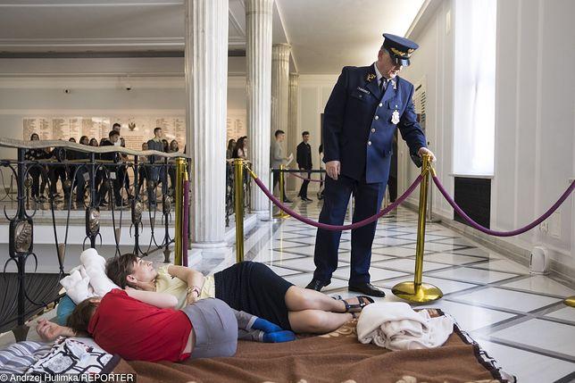 Protest w Sejmie trwa już ponad miesiąc