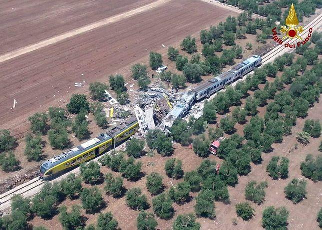 Katastrofa kolejowa we Włoszech