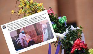 Transmisja mszy świętej w Niedzielę Palmową. TVP pokazała łamanie obostrzeń