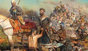 Fragment obrazu przedstawiającego tortury pojmanych przez Tatarów w bitwie nad Kałką. Autor: Paweł Wiktorowicz Ryżenko