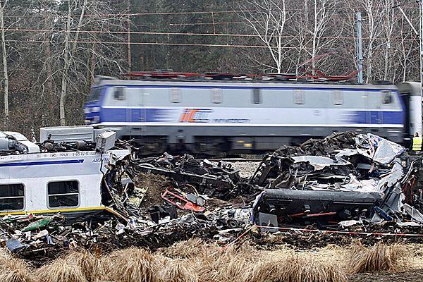 Miejsce katastrofy kolejowej pod Szczekocinami