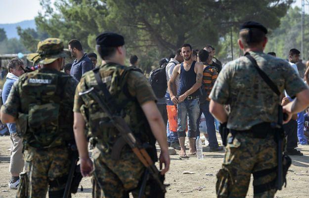 Imigranci na granicy macedońsko-greckiej