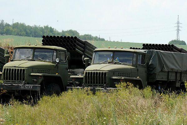 Ciężarówki z systemem rakietowym Grad