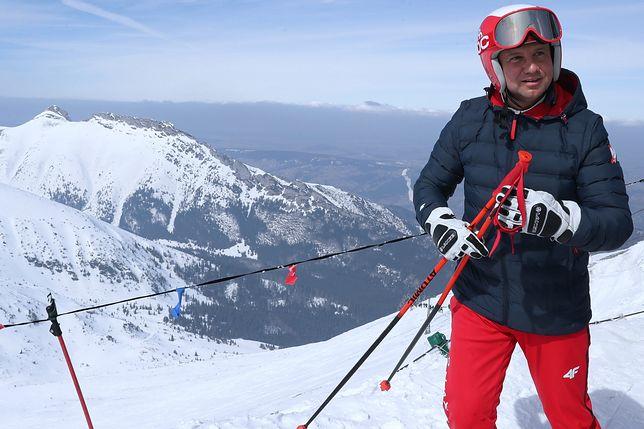 Duda pojechał na narty. Pojawił się pod kolejką na Kasprowy