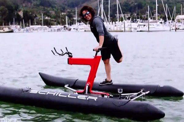 Takiego roweru wodnego jeszcze nie widziałeś. Nowy wynalazek