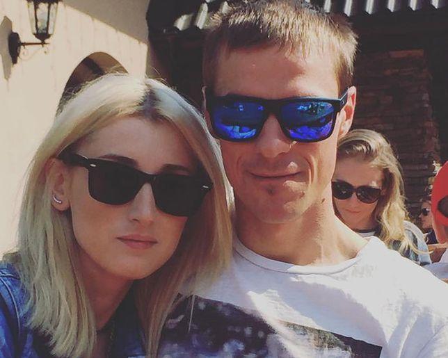 Justyna Żyła z mężem