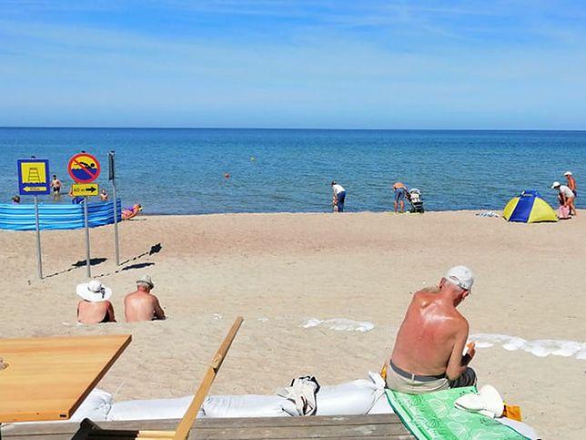 Plaża w Darłowie