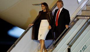 Prezydent USA Donald Trump i Melania Trump po przylocie do Buenos Aires