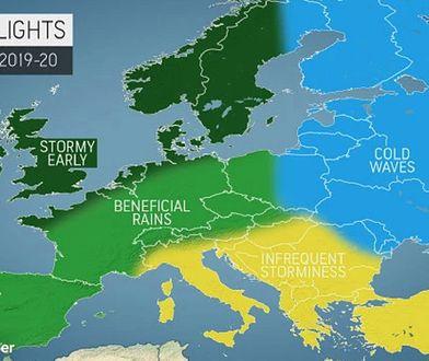 Zima 2019/2020. Prognoza pogody dla Europy