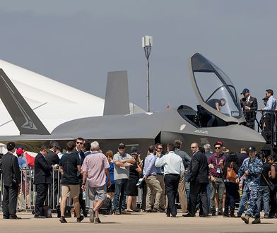 Model F-35 podczas wystawy lotniczej w Australii
