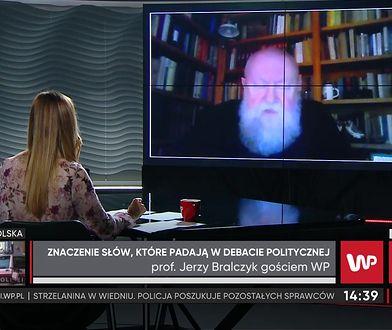 """Prof. Bralczyk ocenia przemówienie Kaczyńskiego. """"W dużej mierze to język agresji"""""""