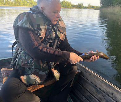 Jarosław Kaczyński na rybach.