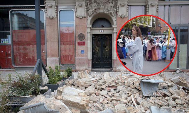 Kobiety ewakuowane ze szpitala po trzęsieniu ziemi w Zagrzebiu