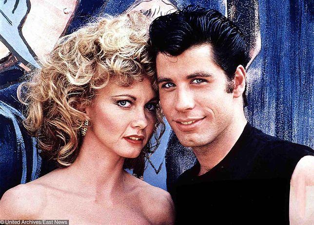 "Olivia Newton-John i John Travolta w filmie ""Grease"""