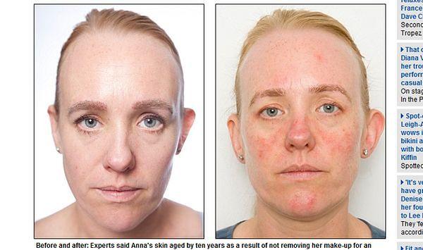 Co spanie w makijażu robi z twoją skórą?