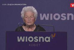 """""""Kocham Roberta Biedronia"""" - wyznaje podczas konwencji pani Maria z Nałęczowa"""